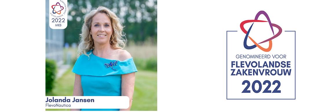 Jolanda genomineerd als Flevolandse zakenvrouw van 2017